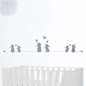 Bordiura Króliczki – Szablon pasek do pokoju dziecka