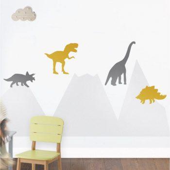 Dinozaury 1 - szablon malarski do pokoju dziecka