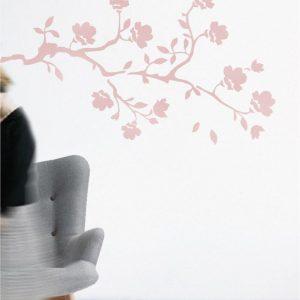 Magnolia 1 - szablon do malowania roślinny
