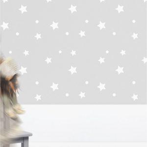 Tapeta Gwiazdki 6 - szablon do dekorowania