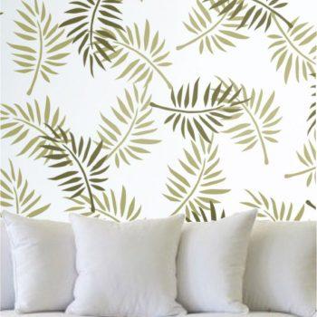 Szablon do malowania w salonie - Liść Palmy