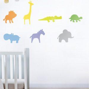 Szablon do pokoju dziecka - Małe ZOO
