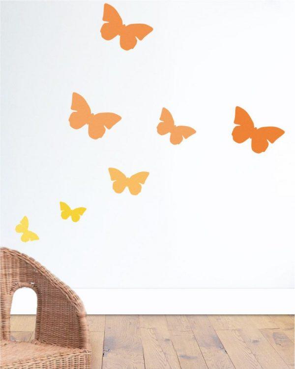 Mini szablon Motyl 1 -do ozdoby pokoiku dziecięcego