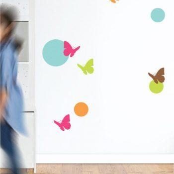 Szablony do pokoju dzieci - Motylki i kółko