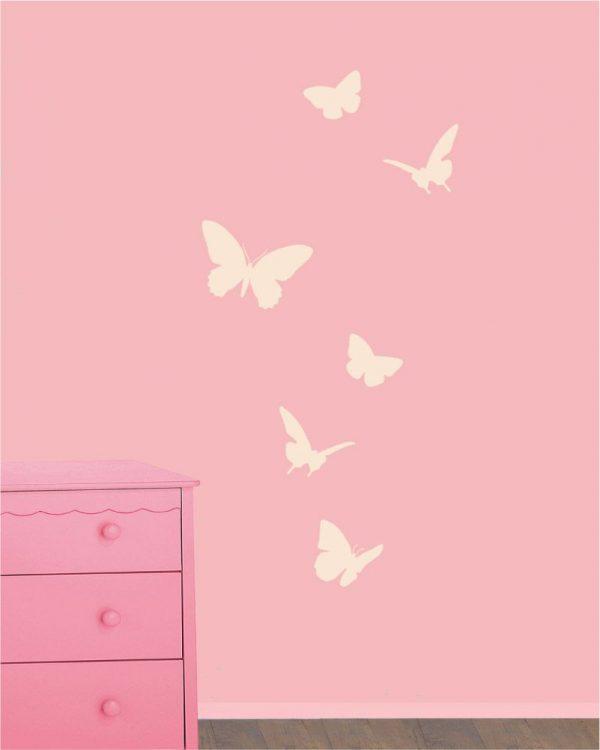 Motyle 1 - szablony do malowania do kokoju dziecinnego
