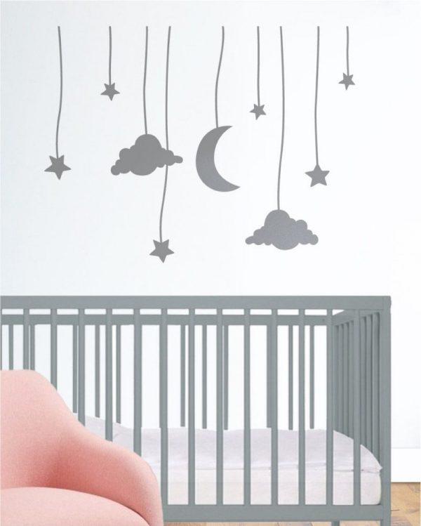 Szablon dekoracyjny dla dzieci NIEBO NA SZNURKU 1