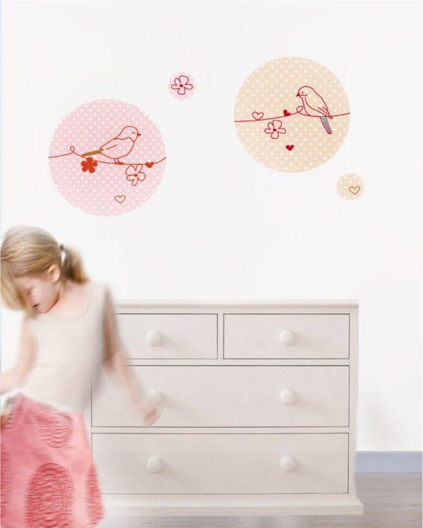Naklejka drukowana Ptaszki 1 - do pokoju dziecinnego