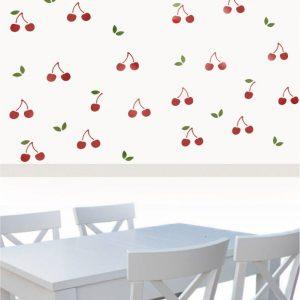 Szablon do malowania kuchni Wiśnie