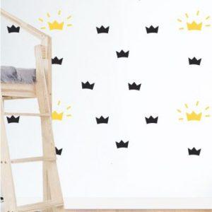 TAPETA KORONA 1 - Szablon do malowania z motywem dla dzieci